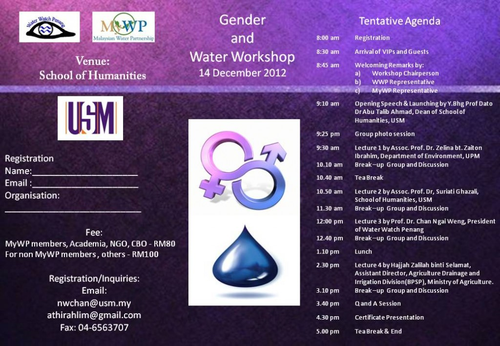 Gender Water Workshop